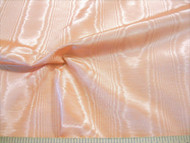 Discount Fabric Moire` Bengaline Faille Light Peach 143MR