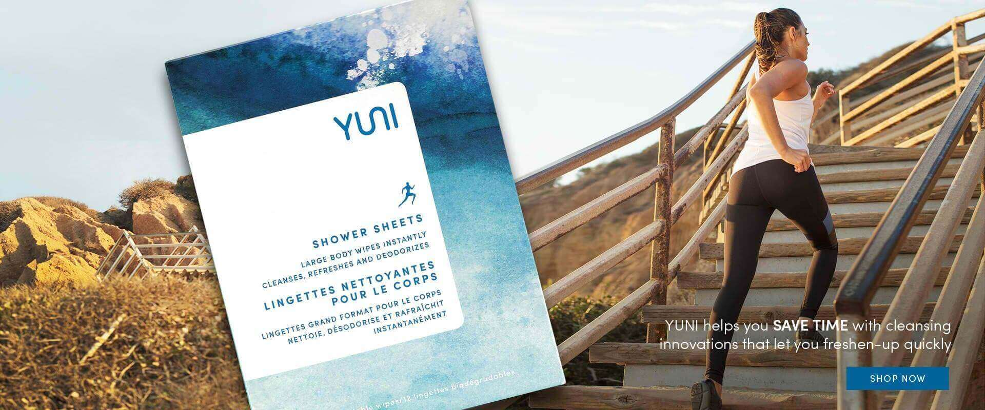 YUNI Beauty Banner Image- Shower Sheet