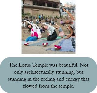 yoga at lotus temple