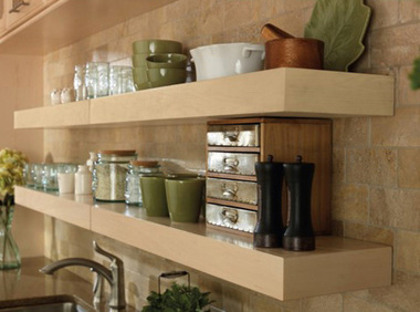 Merillat Classic® Floating Shelves   Natural Finish