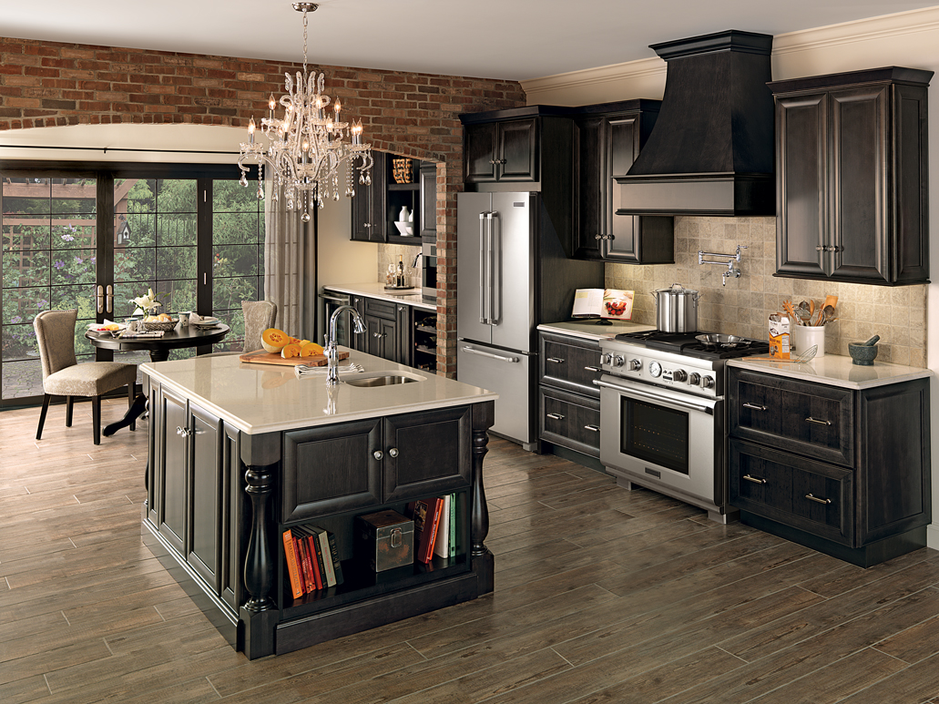 merillat classic bayville kitchen in maple dusk stain - Merillat Classic Kitchen Cabinets