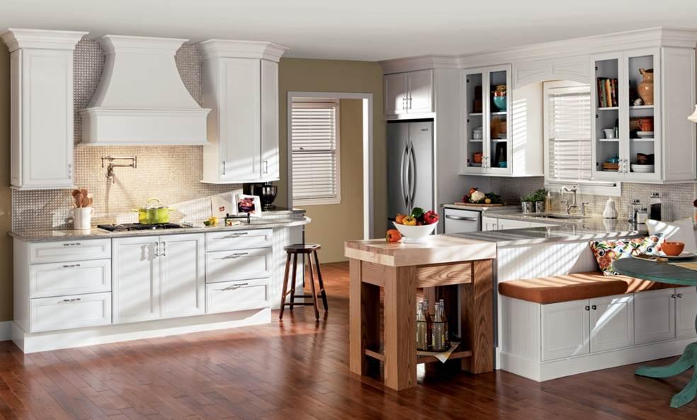 Merillat Classic Bellingham Maple Cotton Cabinets