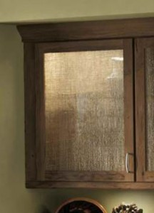 Burlap (BLP) layered between glass adds organic and rustic charm.