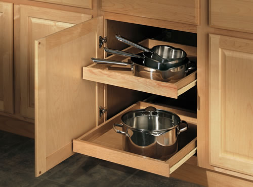 double tray option - Merillat Classic Kitchen Cabinets