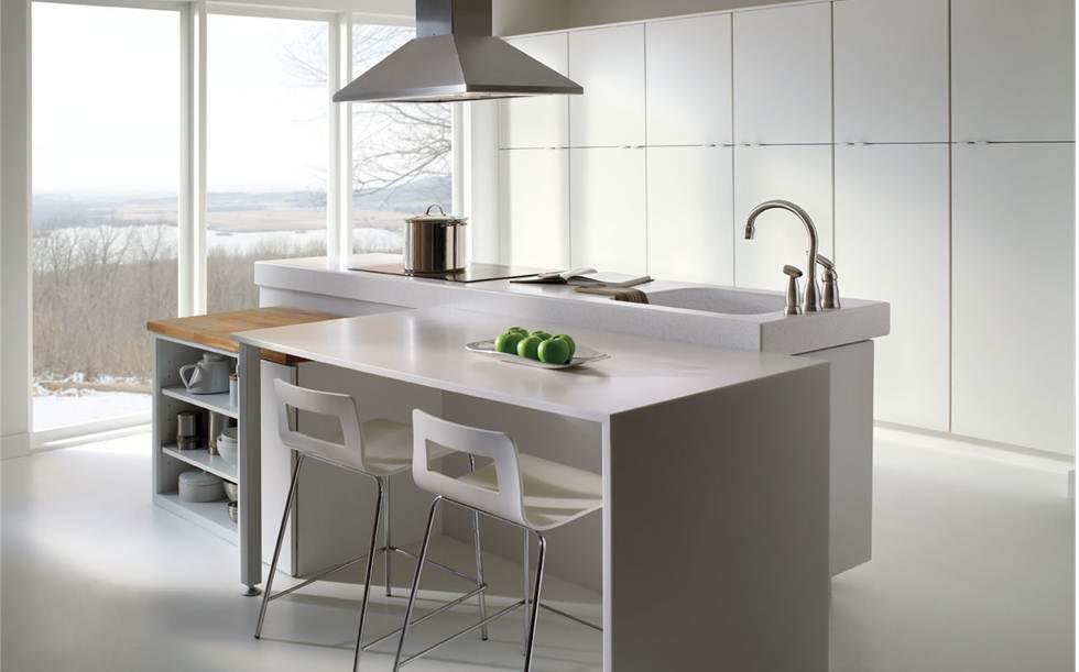 Merillat Masterpiece Glencoe Laminate White Cabinets