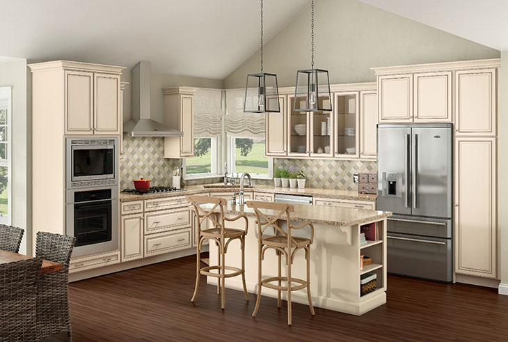 Merillat classic labelle in maple chiffon with desert glaze for Merillat cabinets