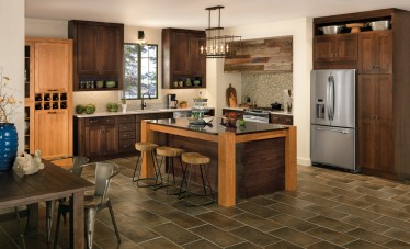 Tolani Kitchen Cabinets in Dark Oak Stain