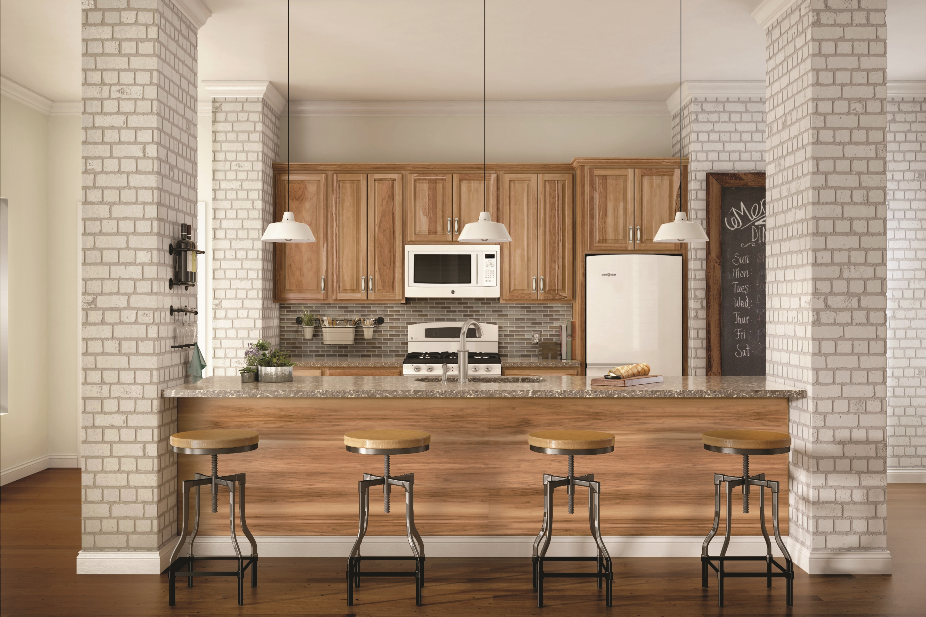Warm And Inviting Stains Such As Amaretto And Pecan Work Well With A  Variety Of Kitchen Furniture And Décor.