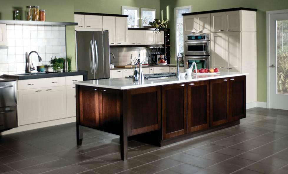 Merillat Classic Tolani Maple Chiffon Cabinets