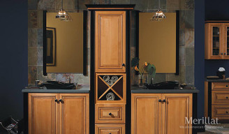 Merillat Masterpiece® Civano in Maple Honey Spice with Mocha Highlight