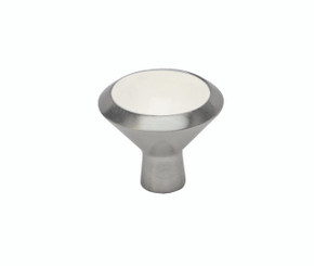 Merillat Masterpiece® Smithwick Knob (Satin Nickel and White)