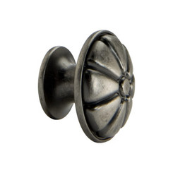 Merillat Classic® Antique Pewter Flower Knob