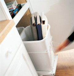 Base Double Wastebasket Floor Mount Kit