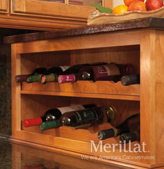 Merillat Classic® Wall Scalloped Wine Rack