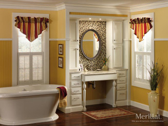 Merillat Classic® Spring Valley in Maple Chiffon with Tuscan Accent Glaze