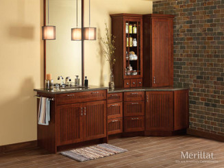Merillat Classic® Avenue w/ 5 piece drawer in Cherry Paprika with Ebony Glaze