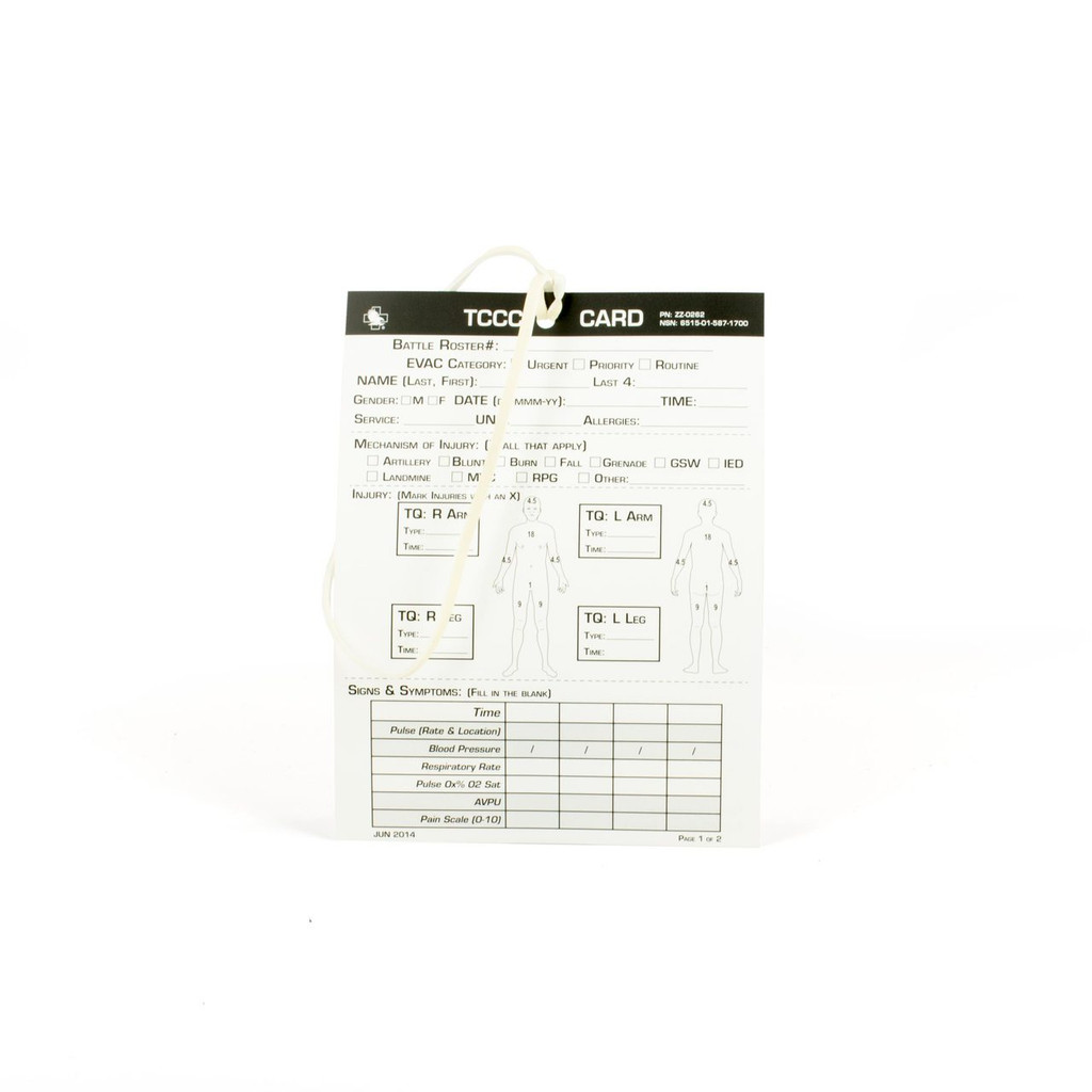 Combat Casualty Card