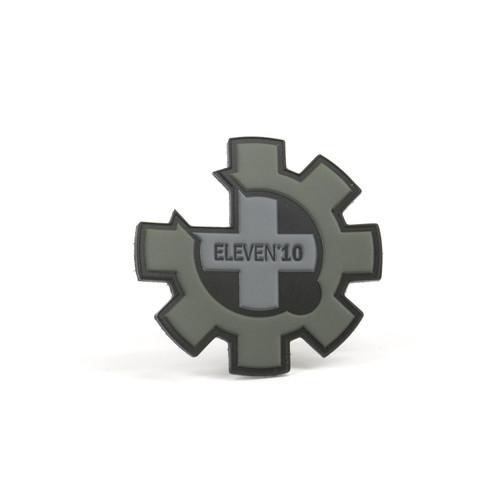 """2.75"""" PVC Eleven 10 Logo Patch - Black"""