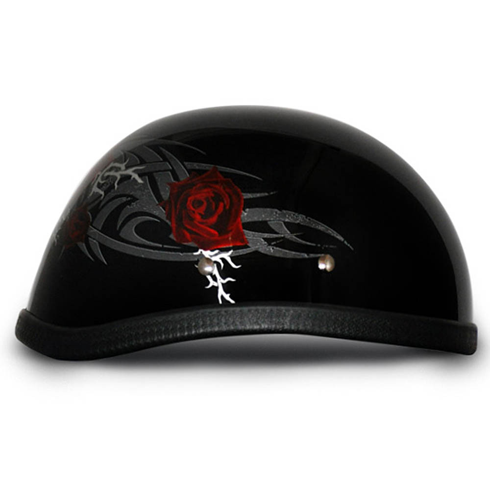 Ladies | Womens Rose Novelty Motorcycle Helmet by Daytona - Size XS-2XL