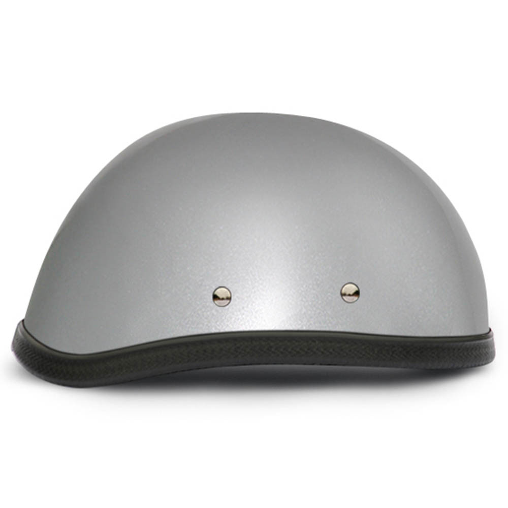 Silver Metallic Novelty Motorcycle Helmets | Novelty Helmet by Daytona XS-2XL