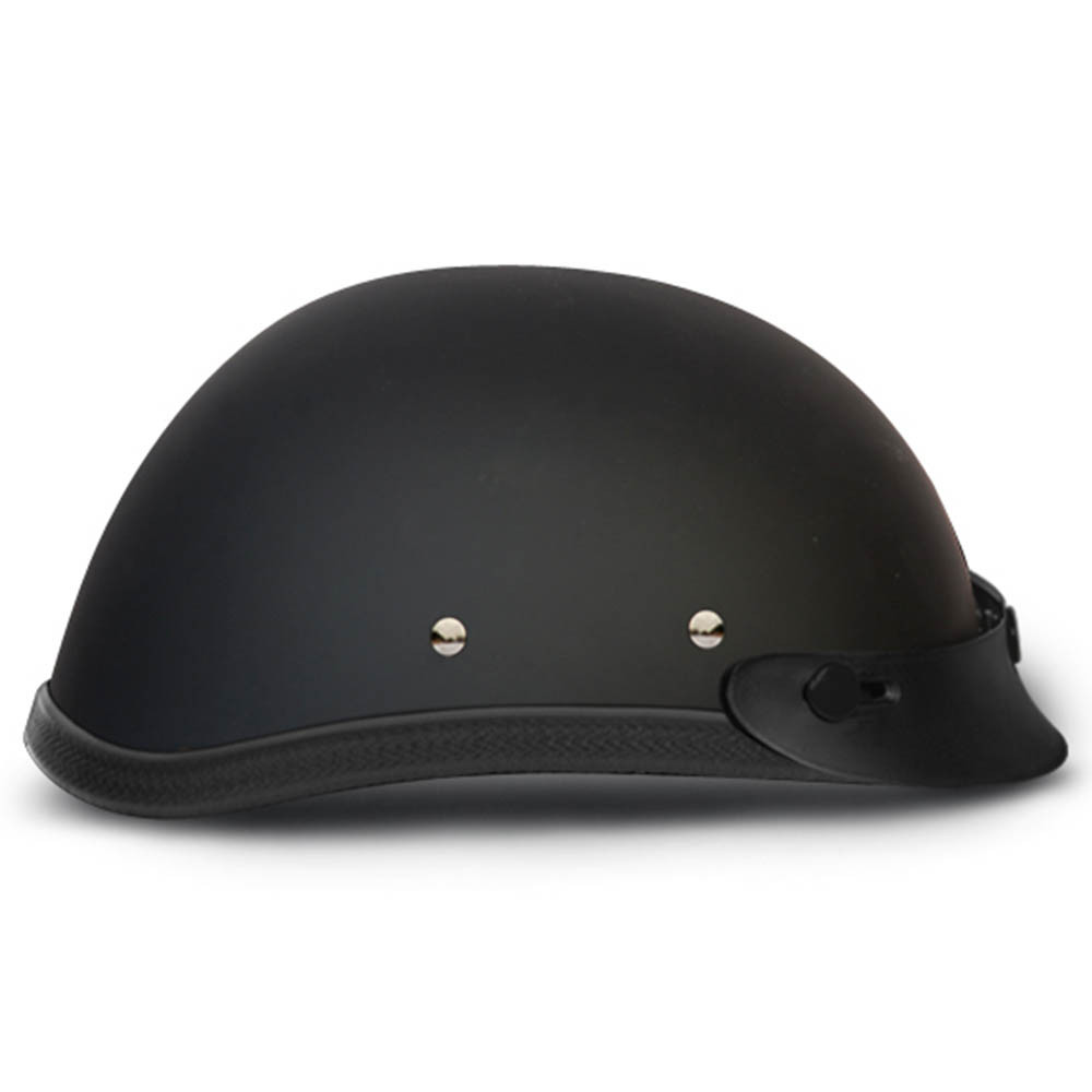 Matte Black Novelty Helmet | Flat Black Novelty Helmet w Visor by Daytona XS-2XL