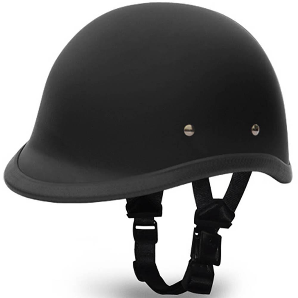 Flat Black Hawk Novelty Motorcycle Helmet   Polo Helmet by Daytona XS-2XL