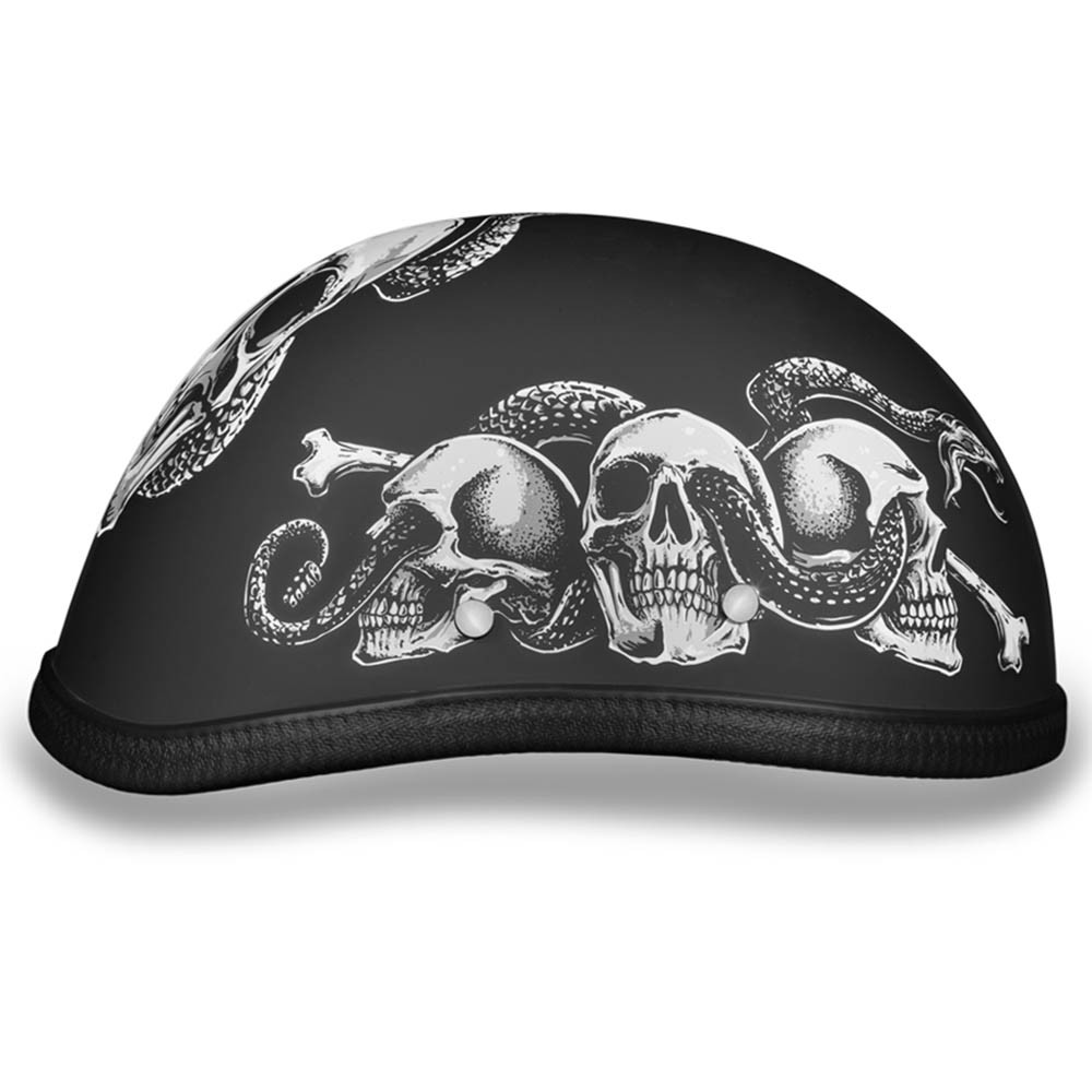 Novelty Helmet - Snake Skulls by Daytona - 6002SS
