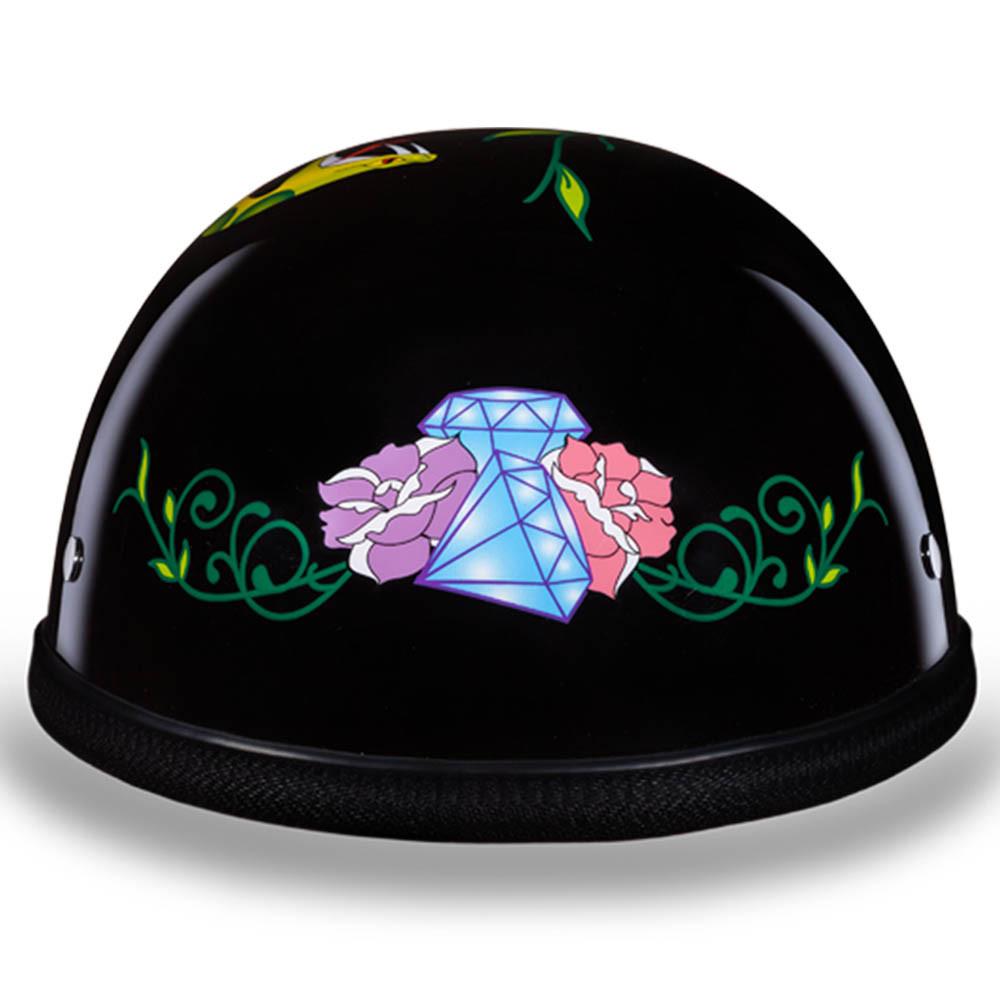 Sugar Skull   Diamond Skull Novelty Motorcycle Helmet by Daytona XS S M L XL 2XL