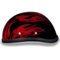 Novelty Helmet - Flames Red by Daytona - 6002FRD