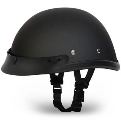Matte Black Novelty Helmet | Flat Black Novelty Helmet w Visor by Daytona XS-2XL
