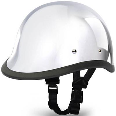 Real Chrome Hawk Novelty Motorcycle Helmet   Novelty Helmets by Daytona XS-2XL