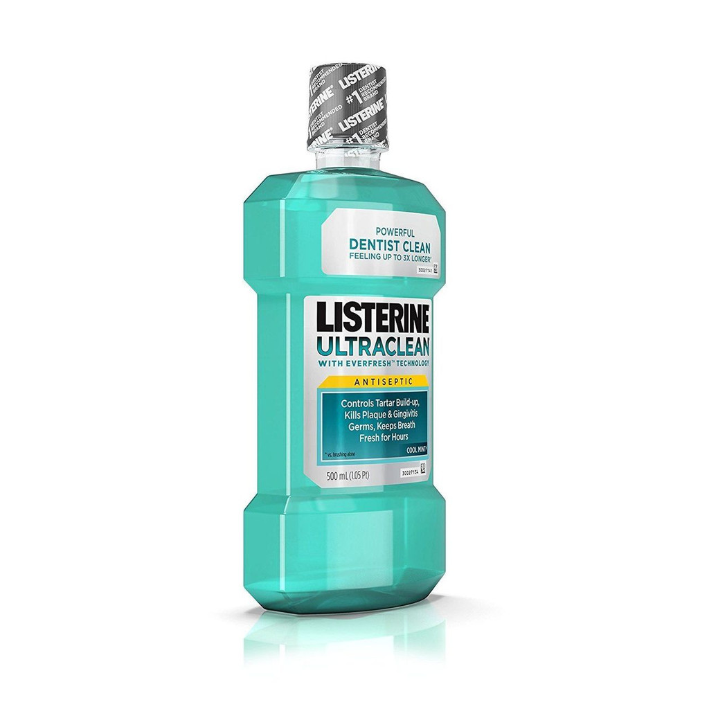 Listerine Ultraclean Cool Mint Antiseptic Mouthwash Oral Care For Fresh Breath