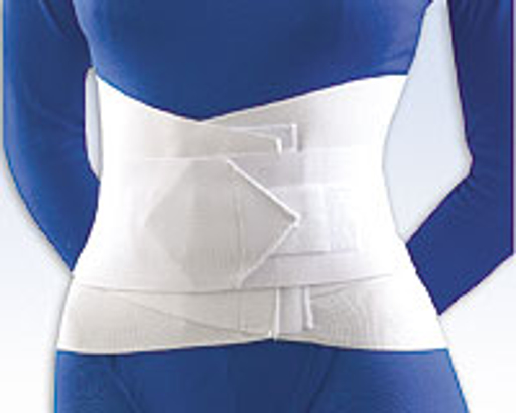 """Lumbar Sacral Support with Overlapping Abdominal Belt 10"""" height"""