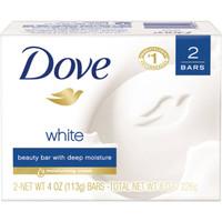 Dove White Beauty Bar, Deep moisturizing 2 X 4.25 OZ