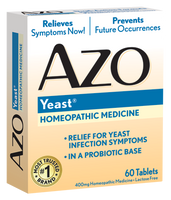 AZO Yeast, Natural Symptom Prevention & Relief, 400mg, Tablets  60 ea