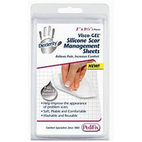 Pedifix Dexterity™ Visco-GEL® Silicone Scar Management Sheets - 2 each