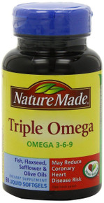 Nature Made Triple Omega 3-6-9, 60 Softgels