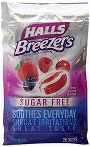 Halls Cough Drop Cool Berry 20 Count