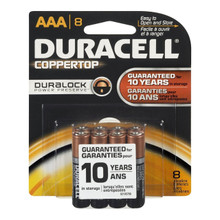 Duracell Coppertop AAA Alkaline Batteries 8 Count