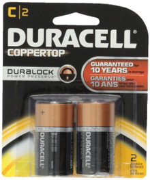 Duracell Alkaline C Batteries 2 Count