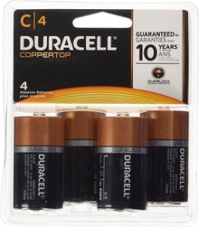 Duracell Coppertop C Alkaline Batteries, 4 Count