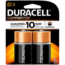 Duracell Batteries, Size D (2 Batteries)