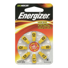 Energizer EZ Turn & Lock Size 10 Hearing Aid Batteries, 8-Count