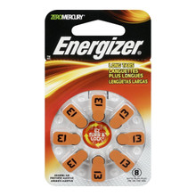 Energizer Batteries AZ13DP EZ Turn and Lock Hearing Aid, Size 13, 8 Count