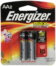 Energizer Max Alkaline E91BP-2 AA Batteries (2-Pack)