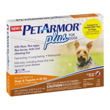 Pet Armr Dog Flea Tick 4-22lb 3ct