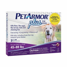 Petarmor Dog Flea Tick 45-88 lb 3ct