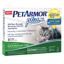 Petarmor Flea Tick Cat + 1.5lb 3ct
