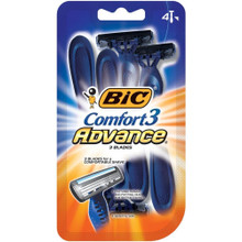 BIC Comfort 3 Advanced Razor 4ct