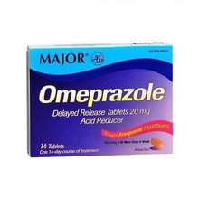 Major Omeprazole Delayed Release 20mg Tablet 14ct